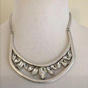 Baublebar silver tone rhinestone necklace